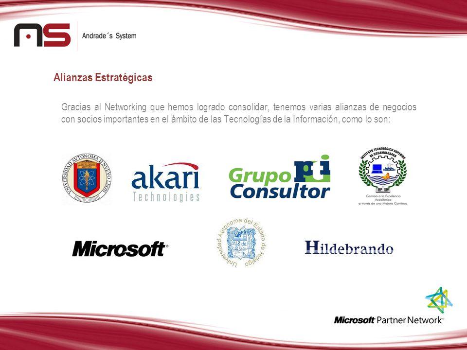 Alianzas Estratégicas Gracias al Networking que hemos logrado consolidar, tenemos varias alianzas de negocios con socios importantes en el ámbito de l