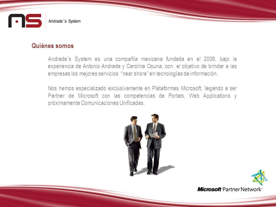 Andrade´s System es una compañía mexicana fundada en el 2006, bajo la experiencia de Antonio Andrade y Carolina Osuna, con el objetivo de brindar a la