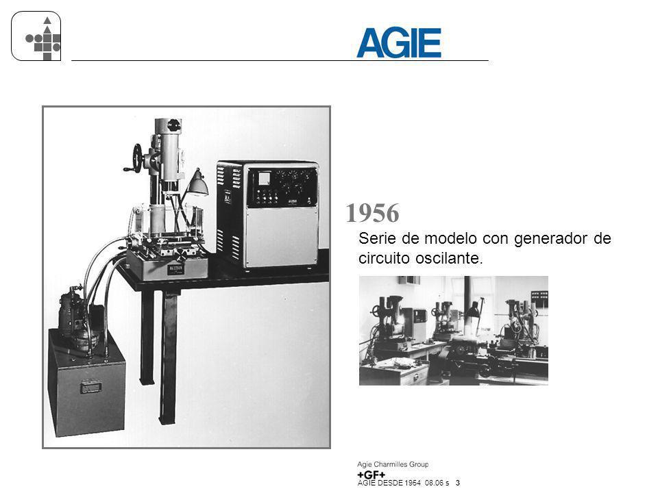 AGIE DESDE 1954 08.06 s 14 1993 Sistema de regulación para la optimación y supervisión del proceso de electroerosión AGIE FUZZYTRON.