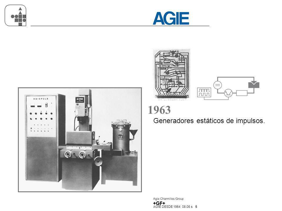 AGIE DESDE 1954 08.06 s 16 1996 Sistema de electroerosión por hilo AGIECUT EVOLUTION con Generador AGIEHSS y un nuevo interfaz de usuario revolucionario AGIEVISION.
