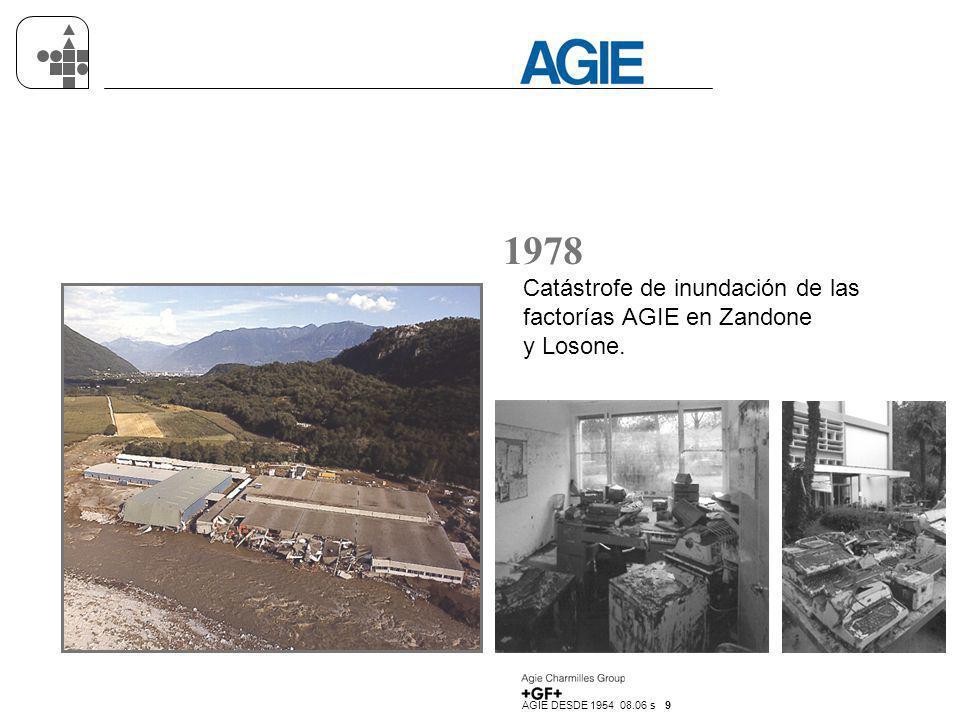 AGIE DESDE 1954 08.06 s 10 1979 Enhebrado automático del hilo.