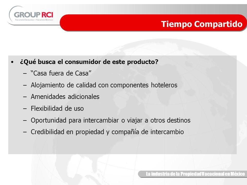 La industria de la Propiedad Vacacional en México Tiempo Compartido ¿Qué busca el consumidor de este producto.