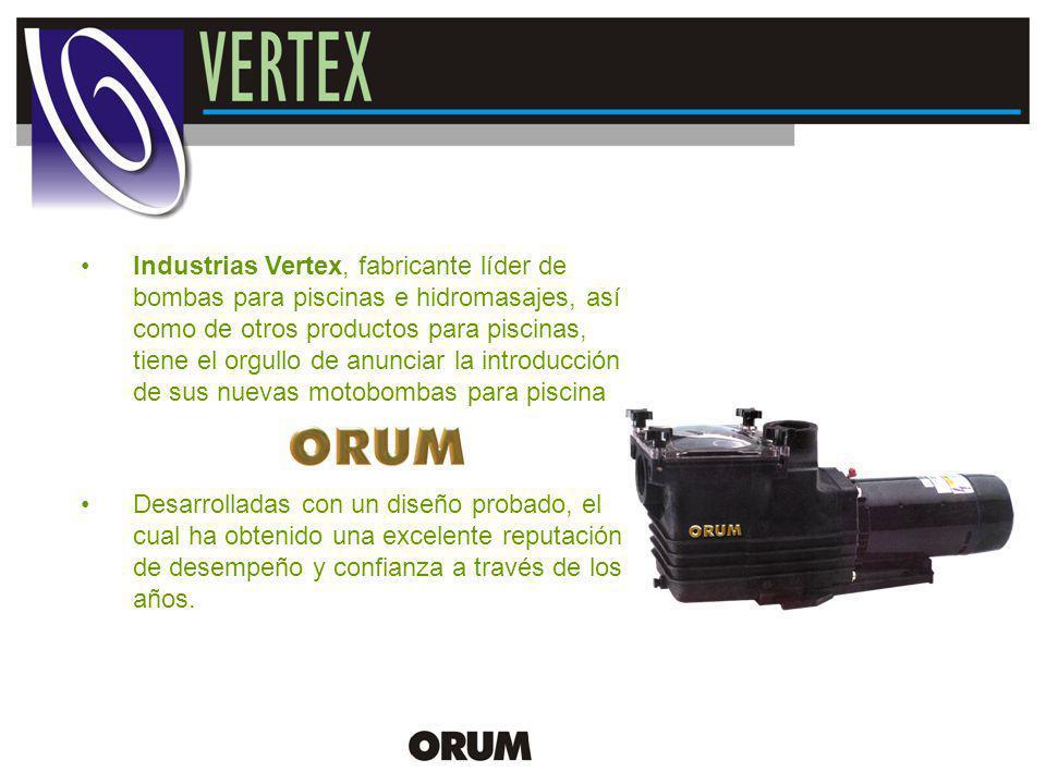 New Product Release Industrias Vertex, fabricante líder de bombas para piscinas e hidromasajes, así como de otros productos para piscinas, tiene el or