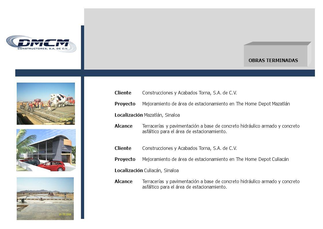 ClienteConstrucciones y Acabados Torna, S.A.de C.V.