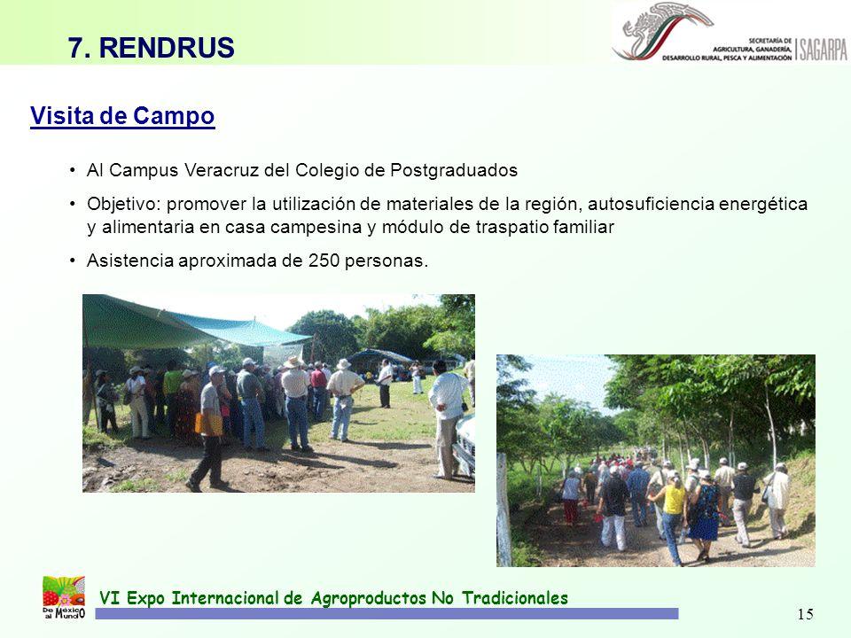 15 Visita de Campo Al Campus Veracruz del Colegio de Postgraduados Objetivo: promover la utilización de materiales de la región, autosuficiencia energ