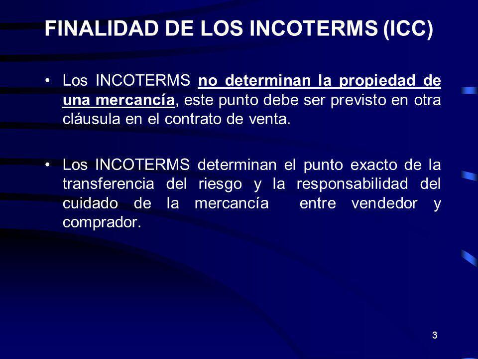 4 ESTRUCTURA ANTERIOR DE LOS INCOTERMS 2000.E: EXW.
