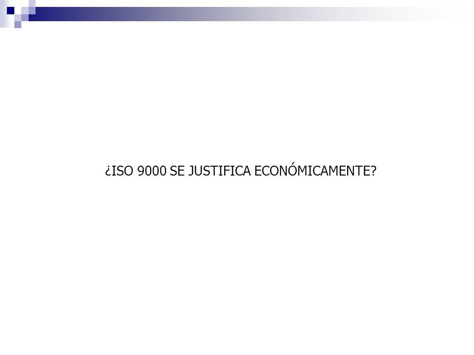 ¿ISO 9000 SE JUSTIFICA ECONÓMICAMENTE?
