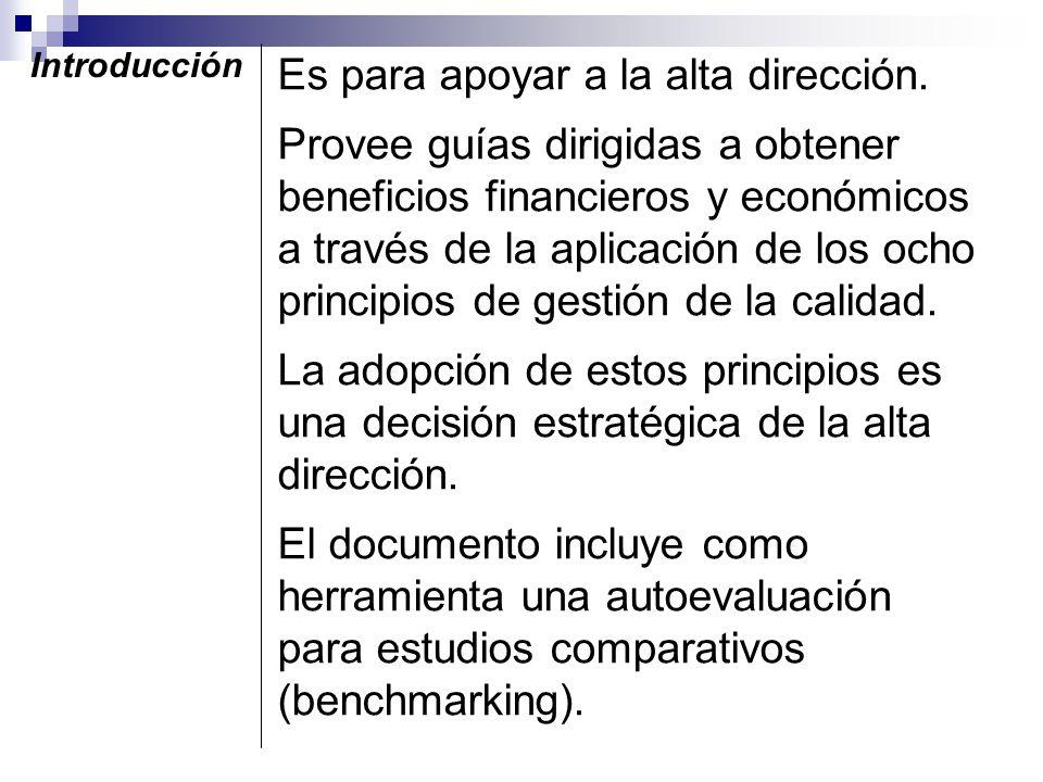 Vigencia El documento fue aprobado como FDIS y está en espera de ser enviado a votación. Cancelará la primera edición ISO/TR 10014: 1998 Directrices p