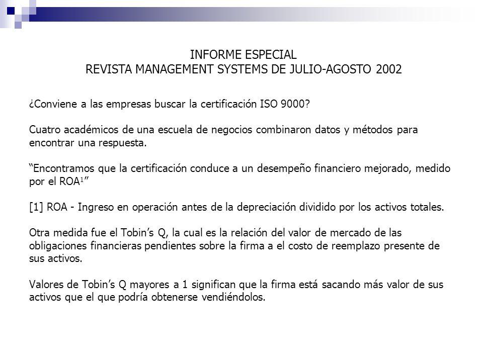 ¿Conviene a las empresas buscar la certificación ISO 9000.