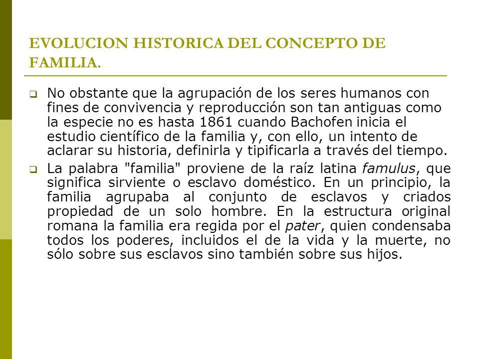 CONCEPTO DE FAMILIA: El Diccionario de la Lengua Española señala que, por familia, se debe entender al grupo de personas que viven juntas bajo la autoridad de una ellas.