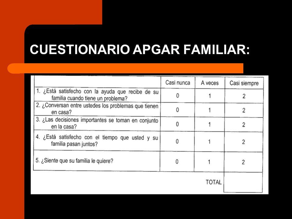 CUESTIONARIO APGAR FAMILIAR: