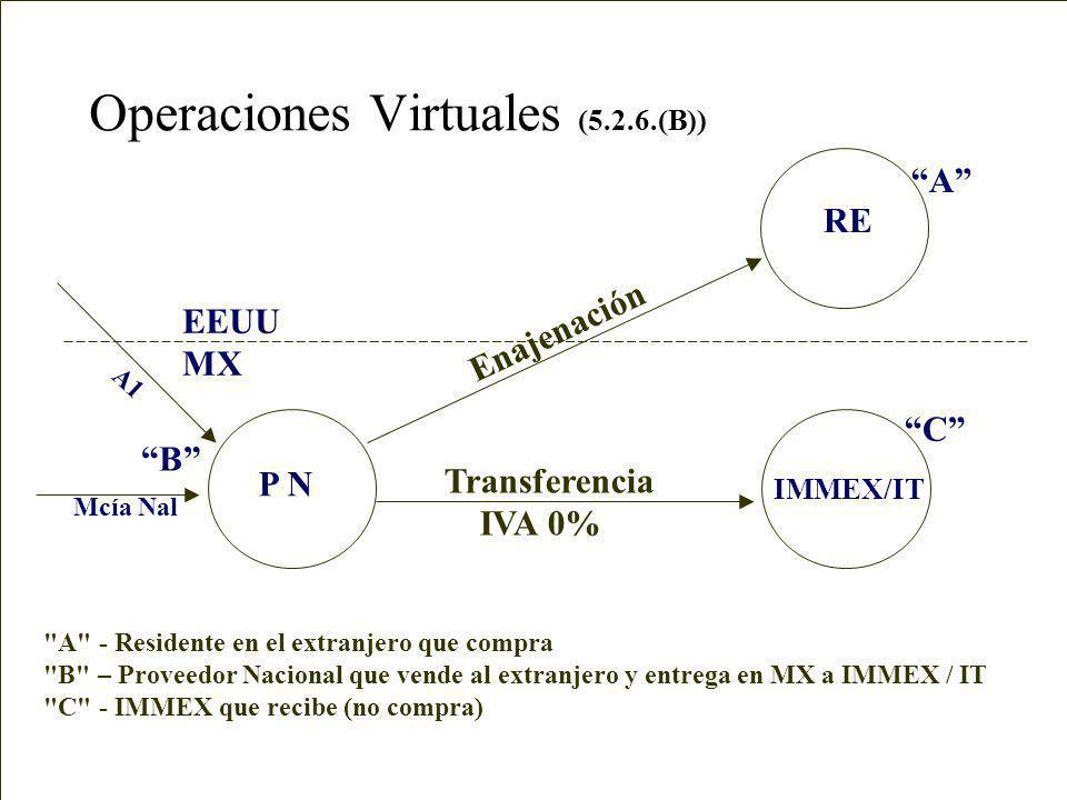 Operaciones Virtuales (5.2.6.(A)) IMMEX ECEX EEUU MX A B A
