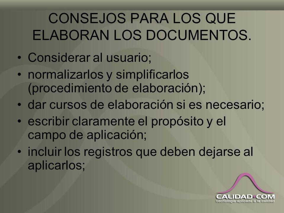 RELACIÓN ENTRE DOCUMENTOS Y REGISTROS Los documentos están vivos, esto es, pueden actualizarse. Los registros están muertos, ¡no pueden revisarse!.