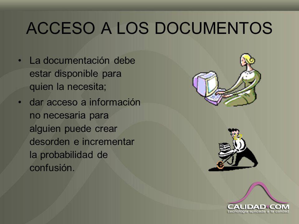 DOCUMENTOS OBSOLETOS La mejor forma de no tener documentos obsoletos que puedan usarse sin intención es la formación; en caso de requerirse pueden con