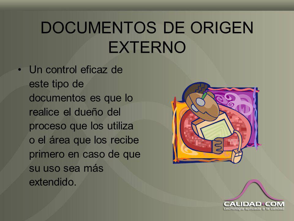 ACCESO A LOS DOCUMENTOS La documentación debe estar disponible para quien la necesita; dar acceso a información no necesaria para alguien puede crear
