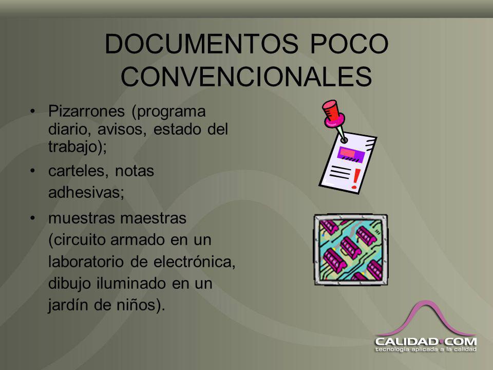 DOCUMENTOS OBSOLETOS La mejor forma de no tener documentos obsoletos que puedan usarse sin intención es la formación; en caso de requerirse pueden conservarse debidamente identificados.