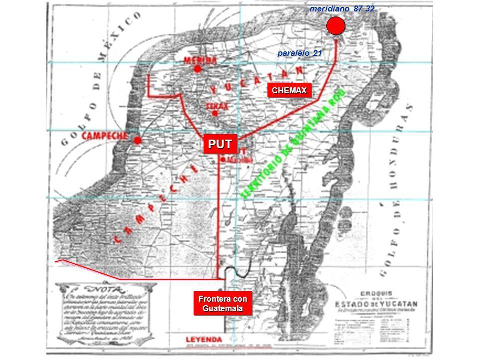 PUTPUT Frontera con Guatemala CHEMAXCHEMAX paralelo 21 meridiano 87 32