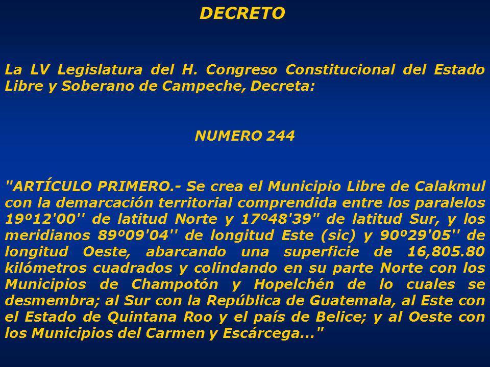 DECRETO La LV Legislatura del H.