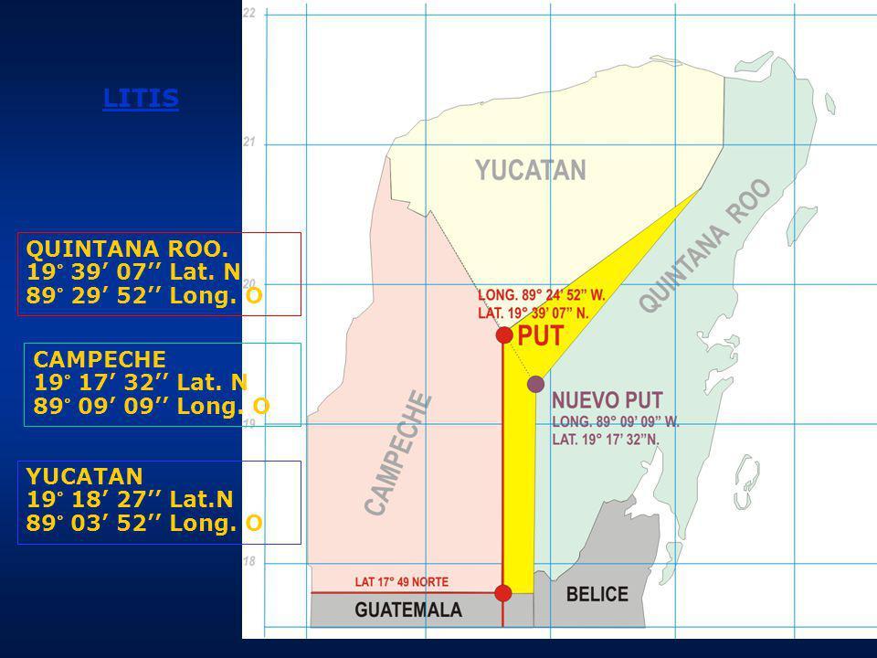 CAMPECHE: Reconvención presentada por el Estado de Campeche el 4 de abril de 1997 19° 17 32 Lat.