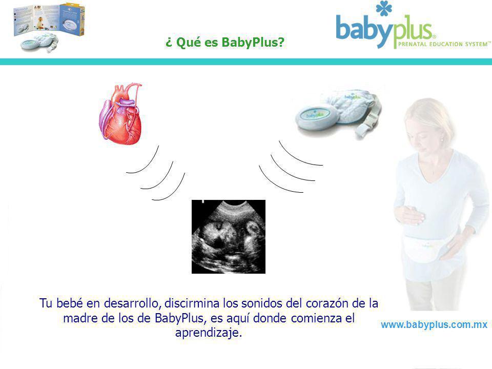 ¿ Qué es BabyPlus? www.babyplus.com.mx Tu bebé en desarrollo, discirmina los sonidos del corazón de la madre de los de BabyPlus, es aquí donde comienz
