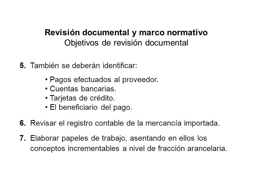 Revisión documental y marco normativo Objetivos de revisión documental 5.
