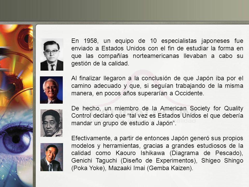 En 1958, un equipo de 10 especialistas japoneses fue enviado a Estados Unidos con el fin de estudiar la forma en que las compañías norteamericanas lle