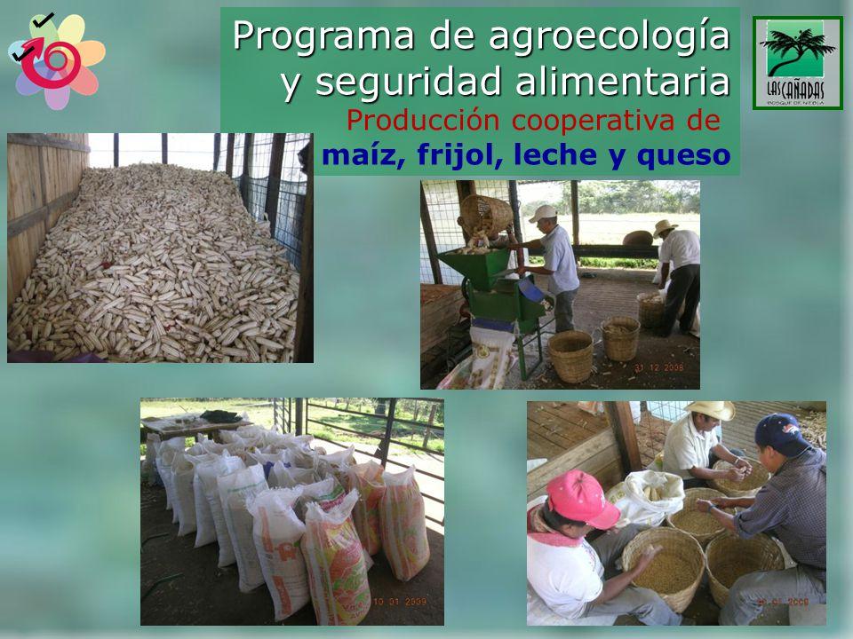 Programa de agroecología y seguridad alimentaria Producción cooperativa de maíz, frijol, leche y queso