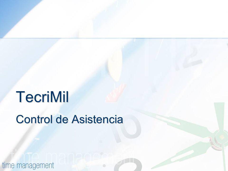 TecriMil Control de Asistencia