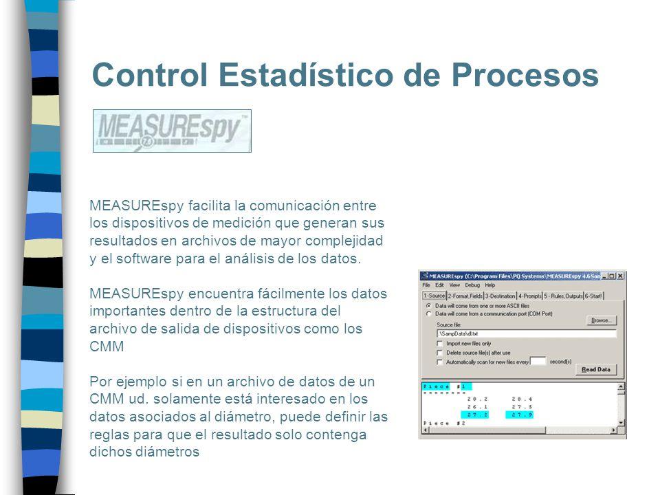 Control Estadístico de Procesos MEASUREspy facilita la comunicación entre los dispositivos de medición que generan sus resultados en archivos de mayor