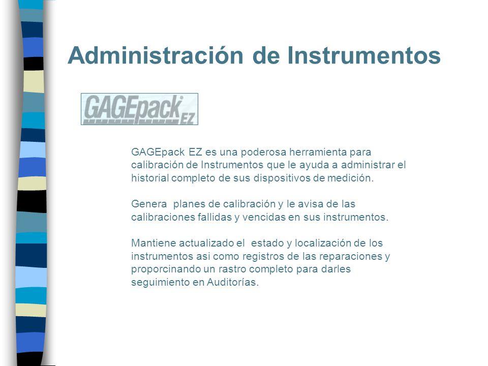 GAGEpack EZ es una poderosa herramienta para calibración de Instrumentos que le ayuda a administrar el historial completo de sus dispositivos de medic
