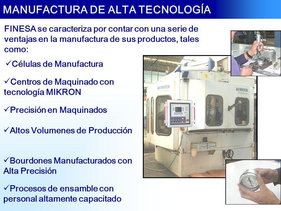 MANUFACTURA DE ALTA TECNOLOGÍA Células de Manufactura Centros de Maquinado con tecnología MIKRON Precisión en Maquinados Altos Volumenes de Producción