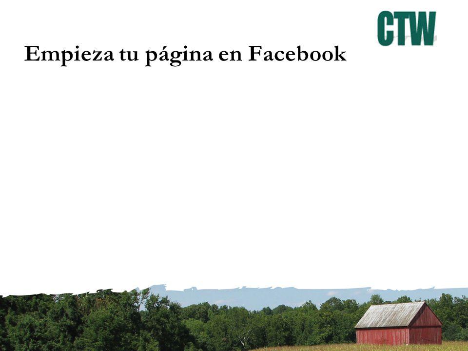 Empieza tu página en Facebook