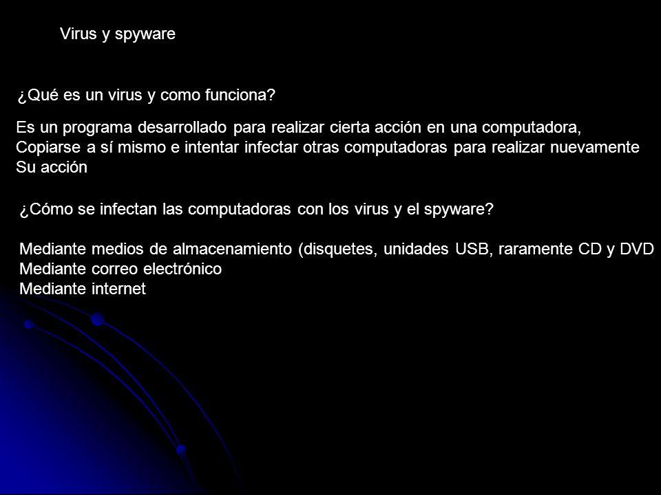 Virus y spyware ¿Qué es un virus y como funciona.
