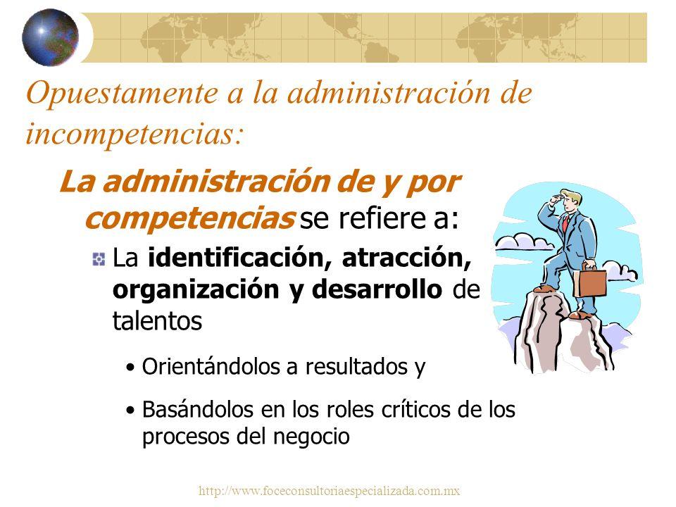 http://www.foceconsultoriaespecializada.com.mx Conocimientos Habilidades Actitudes Competencias Motivación TALENTO