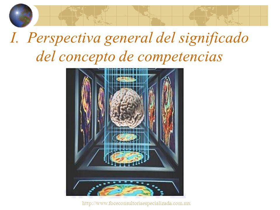 http://www.foceconsultoriaespecializada.com.mx Enfoque/esquema de la conferencia: 1.Perspectiva general del significado del concepto de competencias 2