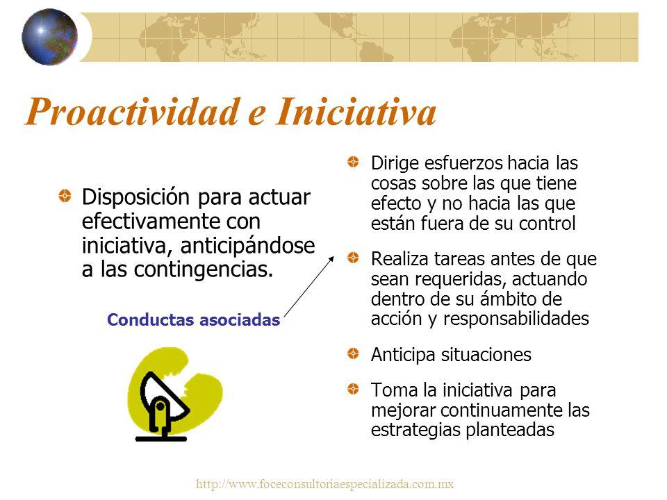 http://www.foceconsultoriaespecializada.com.mx Competencias requeridas por las empresas Enseguida se muestran tres, con su definición y las conductas