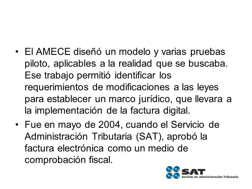 El AMECE diseñó un modelo y varias pruebas piloto, aplicables a la realidad que se buscaba. Ese trabajo permitió identificar los requerimientos de mod