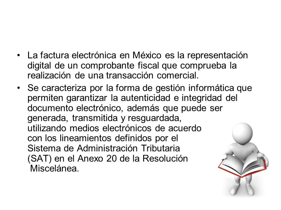 La factura electrónica en México es la representación digital de un comprobante fiscal que comprueba la realización de una transacción comercial. Se c