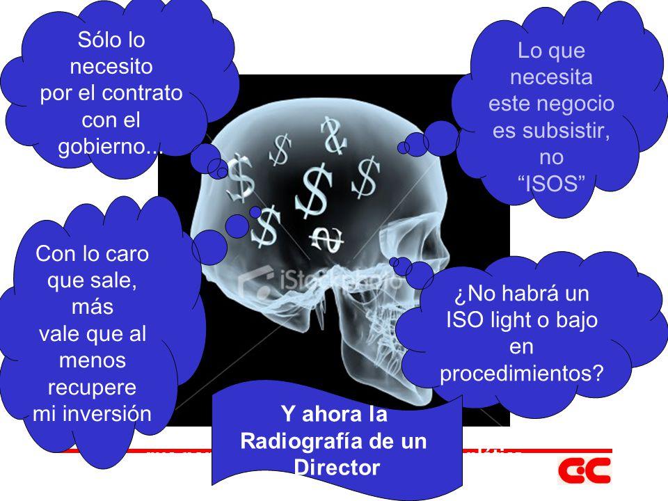 ISO 10014:2005 (Beneficios) Mejor desempeño del presupuesto.