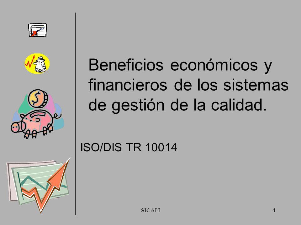 SICALI3 DIRECTRICES DE APOYO A LA NORMA ISO 9001:2000 ISO DIS/TR 10014 (FDIS se circulará a principios de 2006) ISO 10002:2004 ISO 10005:2005 Principi