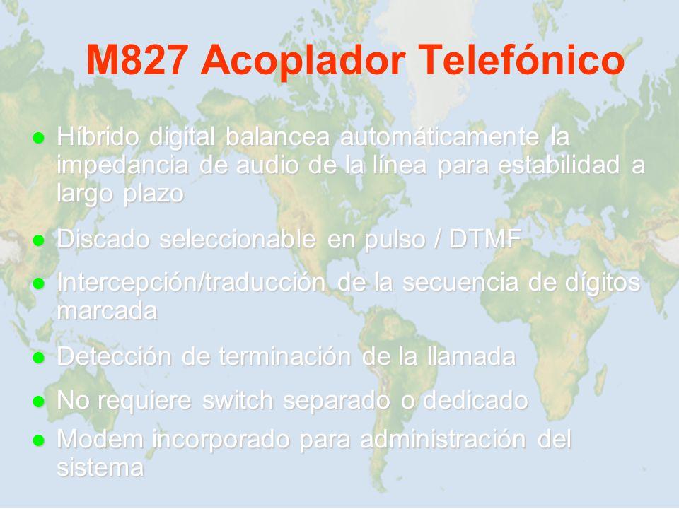 M827 Acoplador Telefónico Híbrido digital balancea automáticamente la impedancia de audio de la línea para estabilidad a largo plazo Híbrido digital b