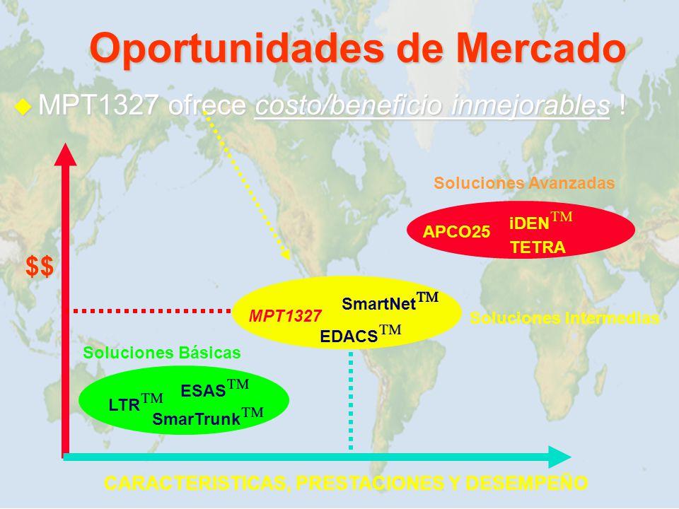 Oportunidades de Mercado MPT1327 ofrece costo/beneficio inmejorables ! MPT1327 ofrece costo/beneficio inmejorables ! TETRA iDEN SmarTrunk ESAS LTR EDA