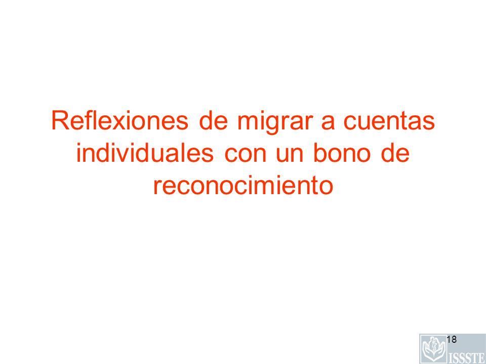 18 Reflexiones de migrar a cuentas individuales con un bono de reconocimiento