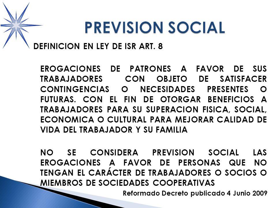 DEFINICION EN LEY DE ISR ART.