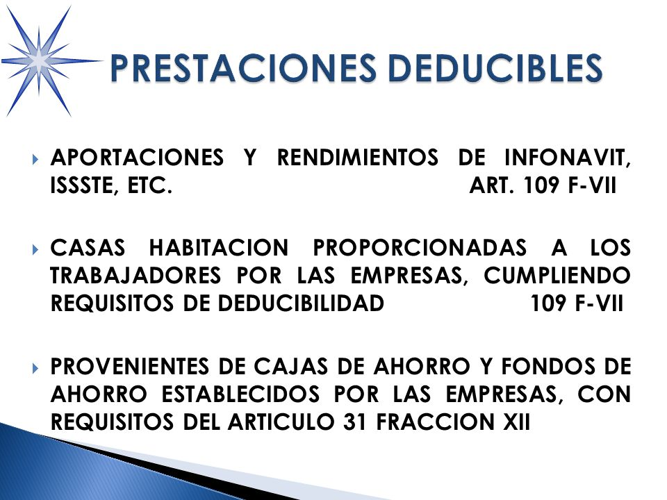 APORTACIONES Y RENDIMIENTOS DE INFONAVIT, ISSSTE, ETC.