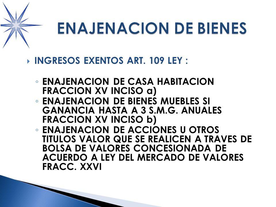 INGRESOS EXENTOS ART.