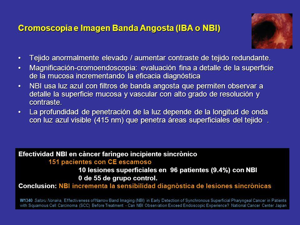 Endoscopia convencional Limitaciones:Limitaciones: –biopsias al azar. Distribuciòn (escamoso y adenocarcinoma) :Distribuciòn (escamoso y adenocarcinom