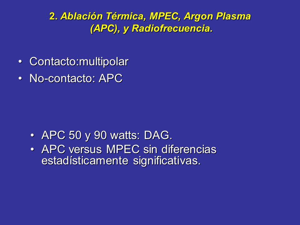 1. Vigilancia. Endoscópica: –Protocolos de toma de biopsias con pinzas jumbo. Evaluar la mucosa de neoformación y Barrett debajo. La vigilancia detect