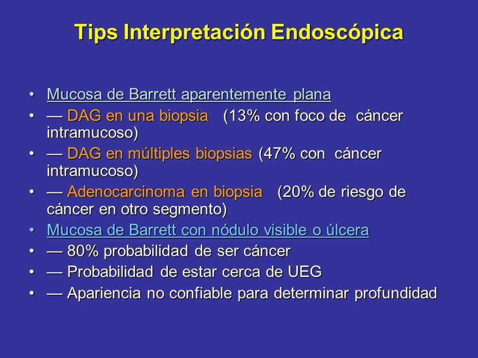 Adenocarcinoma Incipiente Adenocarcinoma Incipiente USE: etapificación loco-regional.USE: etapificación loco-regional. Distinción es crucial: tumores