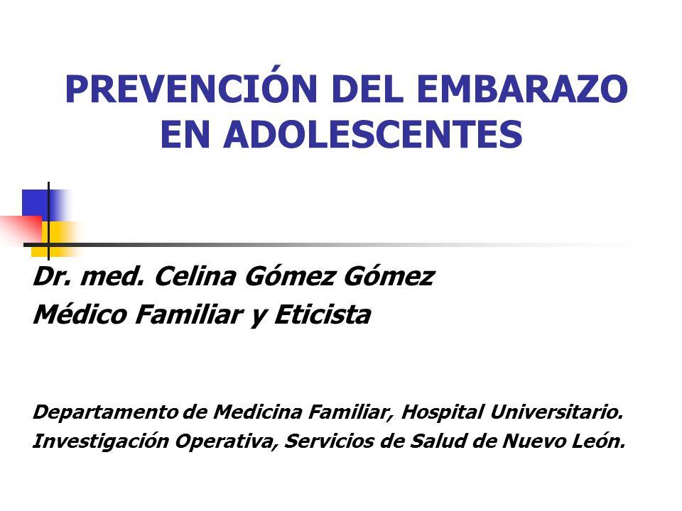 General Determinar los factores de riesgo y de protección asociados al embarazo en adolescentes en el Estado de Nuevo León.